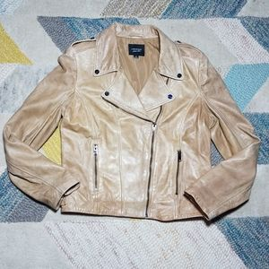 LaMarque Joanna Leather Moto Bomber Jacket MEDIUM